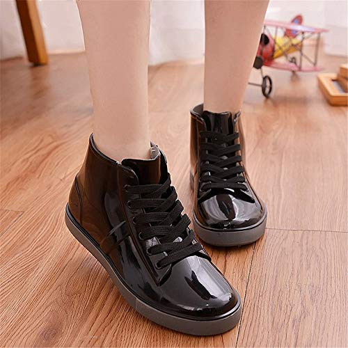 tubo 3 da EU Studenti Scarpe Boot da acqua pioggia Gli amanti brevi Femmina a indossano Dimensione pizzo stivali di stivali 2 Hunter Maschio 40 xqwBgO