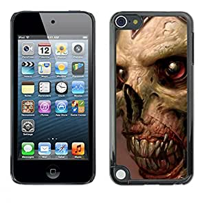 YiPhone /// Prima de resorte delgada de la cubierta del caso de Shell Armor - Gore del zombi Cráneo - Apple iPod Touch 5