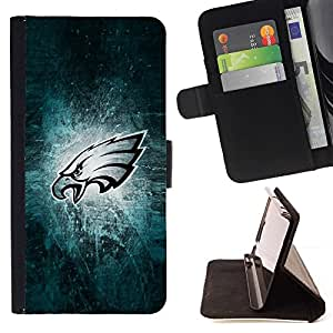 For Apple Iphone 5 / 5S Philadelphia Eagle Football Style PU Leather Case Wallet Flip Stand Flap Closure Cover