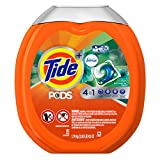 Tide Laundry Detergent Tide Pods Plus Febreze He Turbo Laundry Detergent Pacs Tub, Botanical Rain, 61 Count