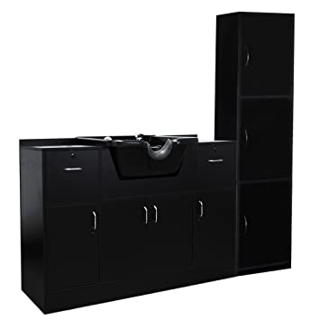 Amazon.com : Salon Spa Complete Shampoo & Storage Cabinet SU-P26 ...