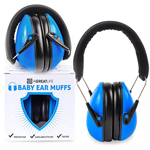 aGreatLife Headphones Noise Reduction - Ear Muffs Hearing Protection, Safest Rated Noise Cancelling Headphones, Best as Ear Plugs in Airplane of Infants, Toddlers and Kids