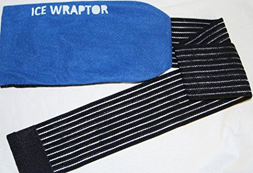 Ice Wraptor Ice Wrap / Cold Wrap can hold ANY ice and gel pack up to 5 x 10 inches - Wraps around any body part from small joints to knees, backs, and shoulders - Ice Pack NOT Included