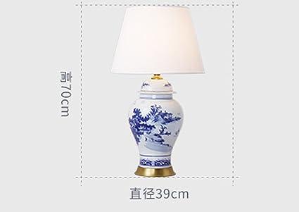 La lampada da tavolo europeo del rame in camera da letto abat