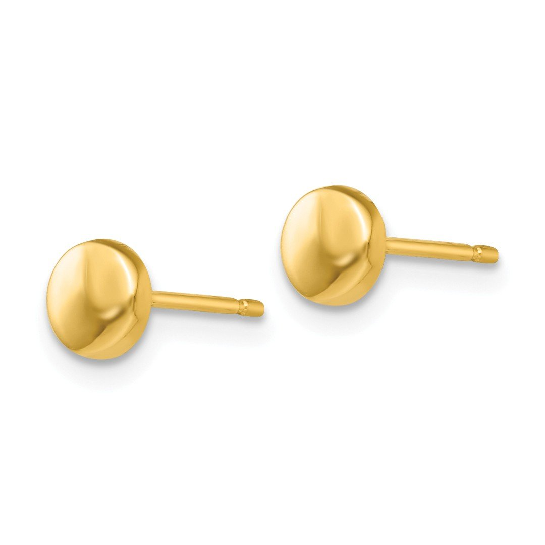 1cebd4331 Amazon.com: 14k Yellow Gold Half Ball Post Stud Button Earrings Fine  Jewelry Gifts For Women - Valentines Day Gifts For Her: Jewelry