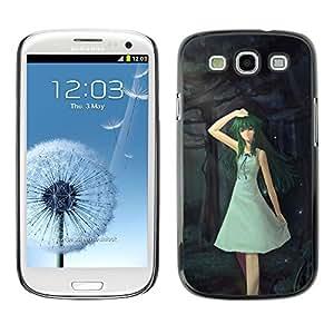 TopCaseStore / la caja del caucho duro de la cubierta de protección de la piel - Cute Fantasy Forrest Girl - Samsung Galaxy S3 I9300