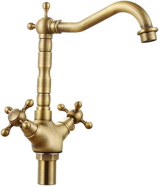 Grifo de filtro de agua potable Dos manijas Grifo de lavabo ...