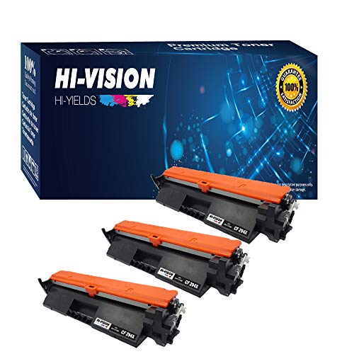 HI-VISION HI-YIELDS Compatible Toner Cartridge CF294X HP 94X High Yield [with CHIP] Replacement for HP Laserjet Pro MFP M148dw M148fdw M118dw (3-Pack)