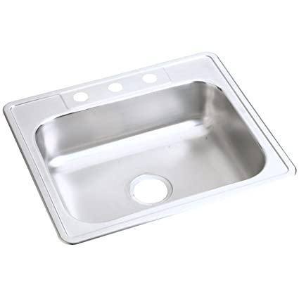 Dayton D125224 Single Bowl Top Mount Stainless Steel Sink