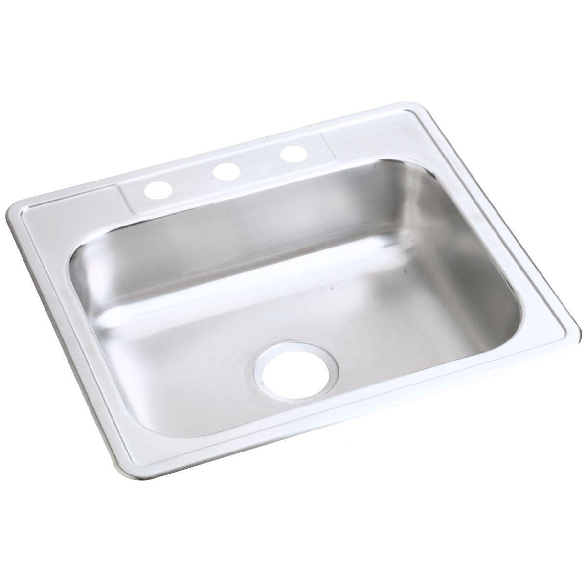 Dayton D125221 Single Bowl Top Mount Stainless Steel Sink