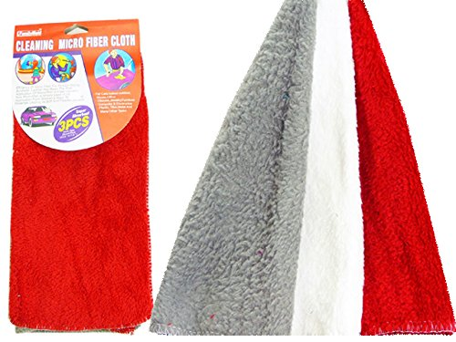 CLEANING CLOTH 3PCS MICRO FIB , Case of 96 by DollarItemDirect