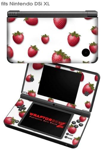 Nintendo Ds Strawberry (Nintendo DSi XL Skin - Strawberries on White)