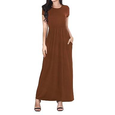 Cinnamou - Vestido de Playa para Mujer, Primavera, Verano, otoño ...