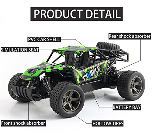 Kanzd 1:20 2WD High Speed RC Racing Car 4WD Remote Control Truck Off-Road Buggy Toys (A)