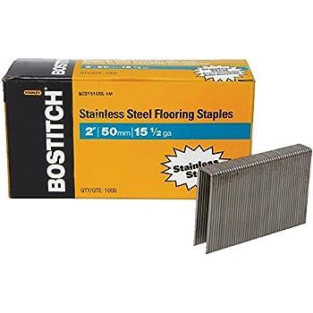 BOSTITCH BCS1516SS 1M 15 1/2 Gauge Stainless Steel Flooring Staple (Pack