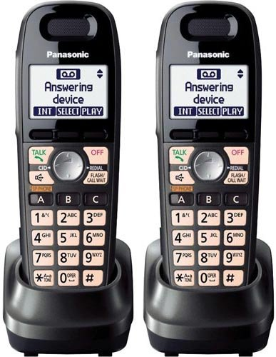 - Panasonic KX-TGA659T Expansion Handset 1.9GHz DECT 6.0 Technology For Cordless Telephone (2- pack)