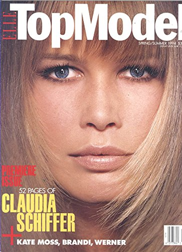 Top Model Magazine First Issue Spring/Summer 1994 (Claudia Schiffer on Cover Plus 52 Pages)