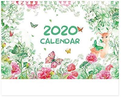 H-OUO Kalender, 2020 Desktop-Flip-Kalender, Kalender kleine frische Kunst kreativ Desktop-Dekoration nett Kalender Planer Tischkalender Tischdekoration Geschenke ,Für Geschenk ( Color : Style a )