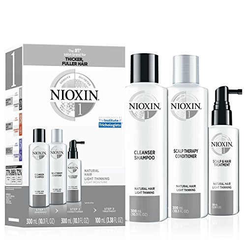 Nioxin Hair System Care Kit, System 1 (Fine Hair/ Normal to Light Thinning), 3 ct.