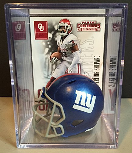 new-york-giants-2016-nfl-draft-helmet-shadowbox-w-sterling-shepard-card
