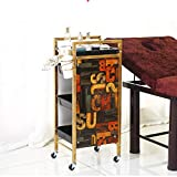 Hairdressing Trolley,5 Tier Hair Salon Storage Tray Cart Hairdressing Trolley