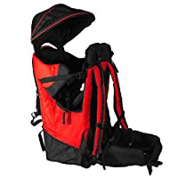 Deluxe Red Baby Toddler Backpack Cross Country Carrier Stand Child Kid Sun Sh...