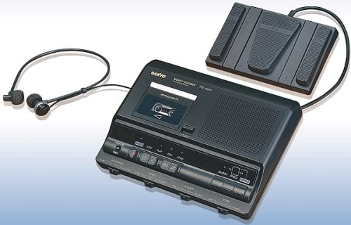 Sanyo TRC-6030 - Microcassette transcriber by Sanyo