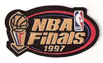 half off 84196 6eabb Image Unavailable. Image not available for. Color  1997 NBA Finals Warm Up  Jerseys Patch Chicago Bulls Utah Jazz