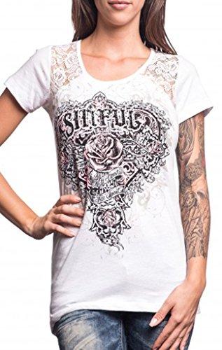 (Sinful Wild Heart Scoop Neck T-shirt S White)