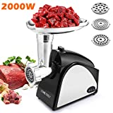 Electric Meat Grinder 2000W, Food Meat Grinders with 3 Stainless...