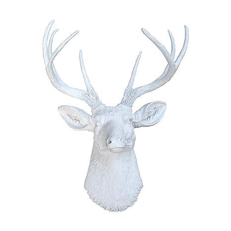 Trastero Oficina Cocina Faux Deer Cornetas Cabeza Ganchos de ...