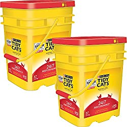 Purina Tidy Cats Clumping Litter 24/7 Performance for Multiple Cats 35 lb. Pail (35 lb - 2 pail)