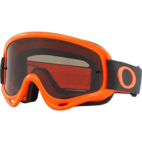 bfc00cf1a4 Amazon.com  Oakley O Frame MX Adult Off-Road Motorcycle Goggles - Orange  Gunmetal Dark Grey  Automotive