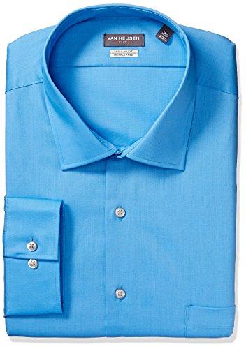 Van+Heusen+Men%27s+Flex+Collar+Regular+Fit+Solid+Dress+Shirt%2C+Blue+Wave%2C+16.5%22+Neck+34%22-35%22+Sleeve