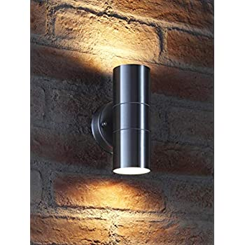 Outdoor Wall Lamp, earlybird-fly Up and Down Cylinder Wall Light Fixture, IP64 Waterproof Exterior Wall Sconce Porch & Patio Lighting (Standard Fitting Without Light Bulb) (up and Down)