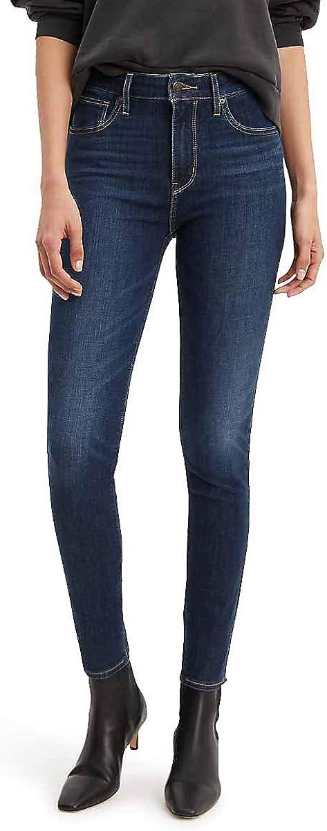 Levi/'s 721 High Rise Skinny Worn /& Torn Blau Damen Jeans 26//30 W26 L30