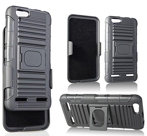 free shipping c4108 5f0dc Amazon.com: LENOVO VIBE K5 CASE CLIP, NAKEDCELLPHONE'S BLACK GRIP ...