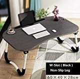 Laptop Desk,Laptop Bed Tray Table Large Foldable Laptop Notebook Stand Desk with Ipad and Cup Holder Perfect for Eating Breakfast, Reading Book, Working,Watching Movie on Bed/Couch/Sofa (Beige)