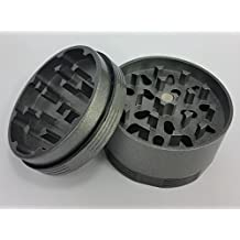 "SLX Stick Free Grinder - Super High Quality Premier Ceramic Coated Grinder - Sharp ""Non-stick"" Teeth - Silver - 2 Inch"