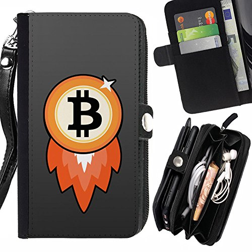 GOD CASE FOR APPLE IPHONE 6 / 6S Bitcoin Chip Money Rocket Wallet Purse Pouch Holster Leater & Soft TPU