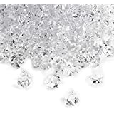 Acrylic Clear Ice Rock Crystals Treasure Gems for Vase Fillers, Table Scatter, Birthday Decoration Favor, Event, Wedding, Arts & Crafts (3 Pounds)