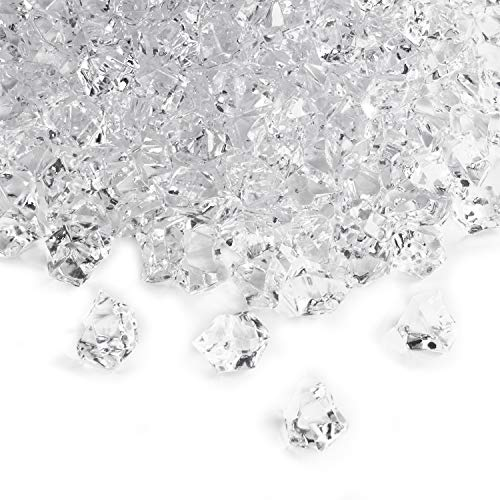 Acrylic Clear Ice Rock Crystals Treasure Gems for Vase Fillers, Table Scatter, Birthday Decoration Favor, Event, Wedding, Arts & Crafts (3 - Crystal Acrylic Large Clear