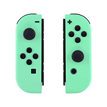 eXtremeRate Soft Touch Grip Mint Green Joycon Handheld Controller Housing  with Full Set Buttons, DIY Replacement Shell Case for Nintendo Switch