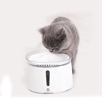 JL Dispensador De Agua Inteligente para Mascotas Filtración De Oxígeno Automática Cintura del Cubo Dispensador De Agua De Alimentación Cat Perros ...