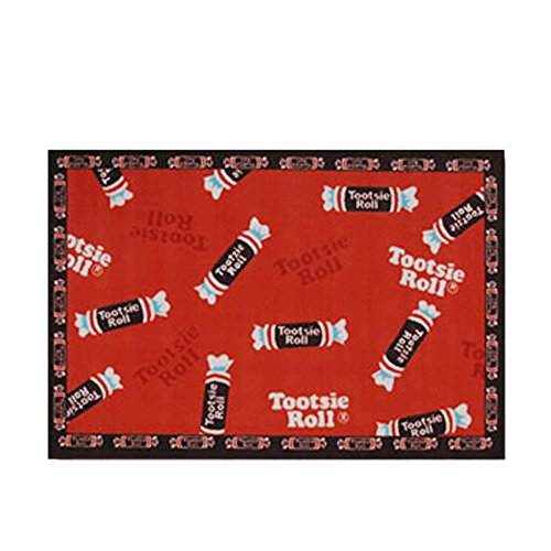 Tootsie Roll Home Decorative Area Rug Nylon Tootsie Roll Candy -39