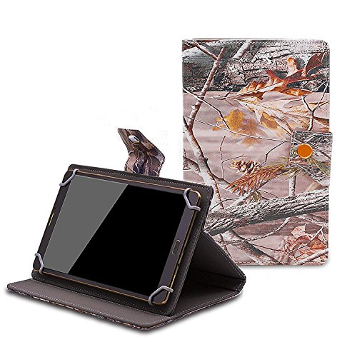 Nextbook Ares8 8 inch Case - Tsmine Universal Lightweight Stand Folio PU Leather Case Protective Cover for Nextbook Ares8 8 inch Tablet,Branches (Nextbook 7 Tablet Camo Case)