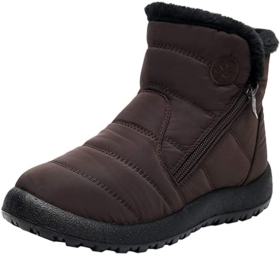 TEELONG Women's Snow Boots Solid Color