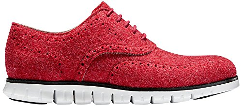Cole Haan Mens Zerogrand Wing Oxford Red Wool-optic White 1wA8X