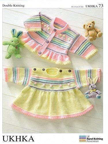 Uk Hand Knit Association Baby Dress Cardigan Dk Knitting Pattern