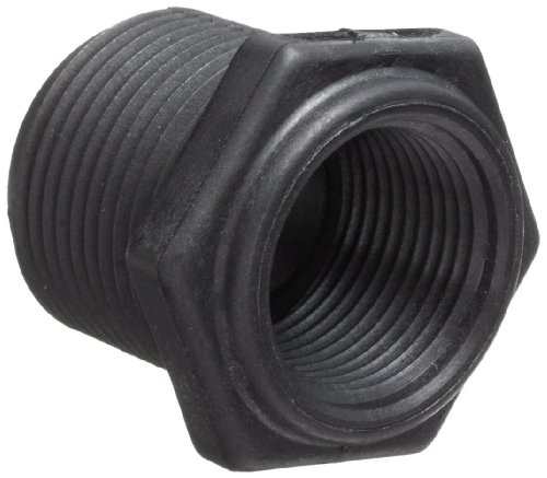 (Dixon 62276 Polypropylene Schedule 80 Threaded Pipe and Welding Fitting, Reducer Bushing, 1